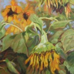 Late Sunflowers by Ann Rhodes