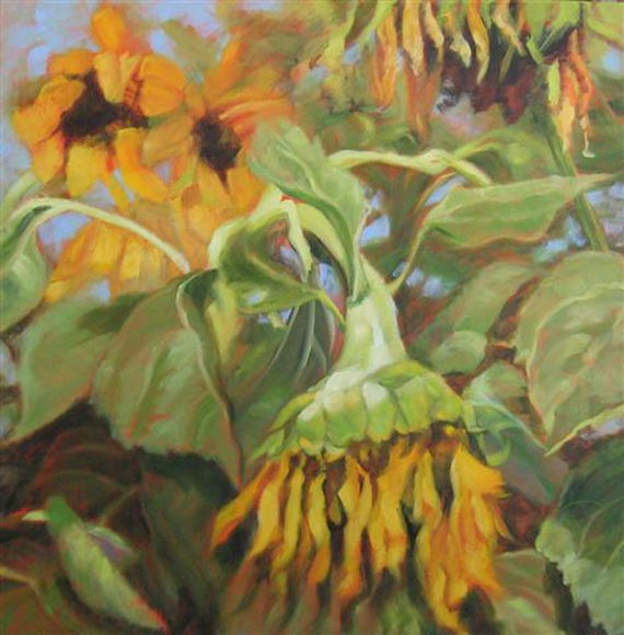 Late Sunflowers by Ann Rhodes