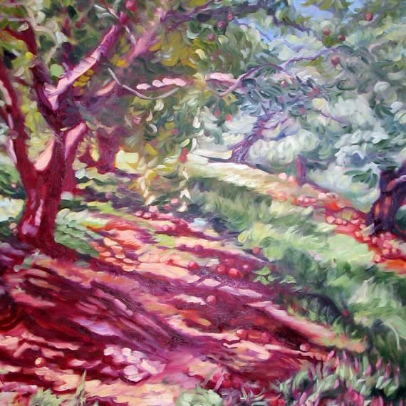 Shadows in the Orchard by Ann Rhodes