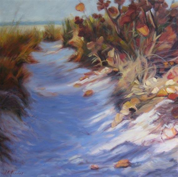 Morning Path to the Beach by Ann Rhodes