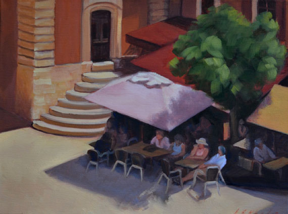 Looking Down on the Square by Ann Rhodes