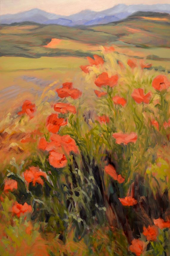 Poppies Boiling Over by Ann Rhodes