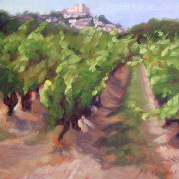Vineyard below Siagnon by Ann Rhodes