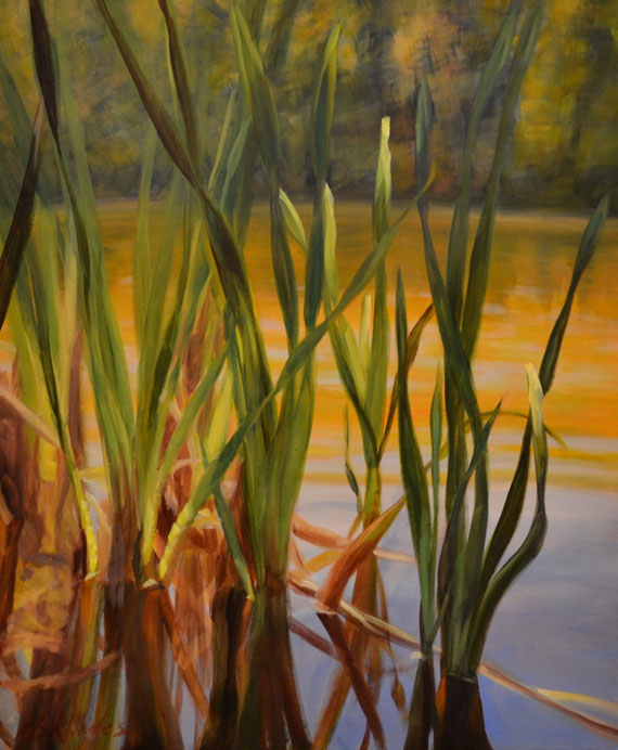 Reed Reflections VI by Ann Rhodes