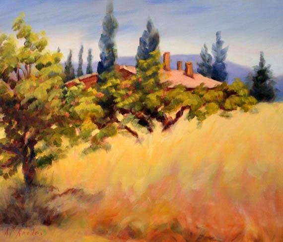 French Fine Art Peaches by Ann B Rhodes