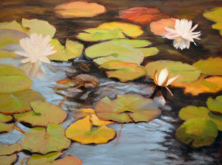 Shadowed Pond by Ann Rhodes