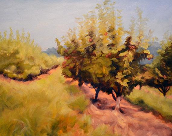 Summer Orchard IV, Fine Art by Ann Rhodes